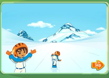 Игра Диего на сноуборде