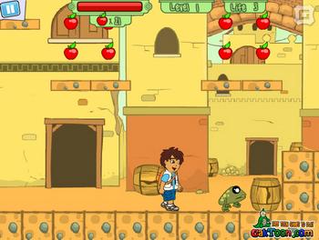 Диего собирает яблоки