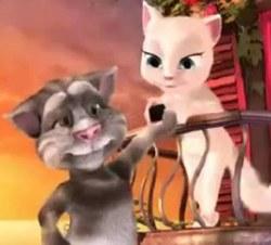 Говорящий кот Том с подругой