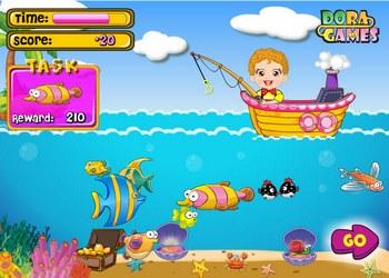 играть в детскую рыбалку
