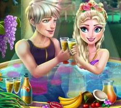 Эльза и Джек в джакузи