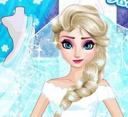 Дизайн свадебного платья Эльзы
