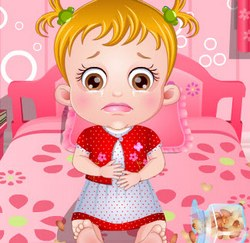 Малышки Хейзел боли в животе