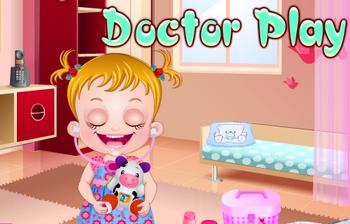 Малышка Хейзел играет в доктора