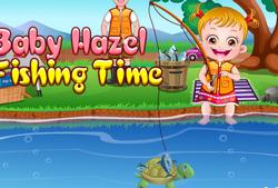 Малышка Хейзел на рыбалке