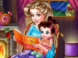 Мама читает сказку