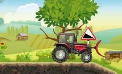Тракторная сила в деревне
