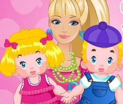 Барби - няня близнецов