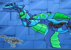 Роботы Динозавры: Плезиозавр