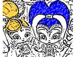 Шиммер и Шайн : раскраска