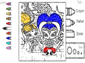 Шиммер и Шайн : раскраска играть онлайн бесплатно - Игры ...