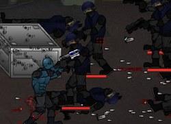 Сражение Дедпула в синем костюме
