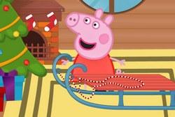 Украшение саней свинки Пеппа