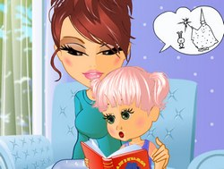 Мама с дочкой одевалка