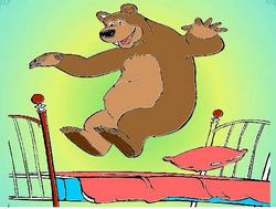 Раскраска: Медведь