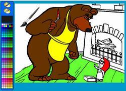 Раскраска: Маша и Медведь