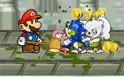 Игра Марио и Соник